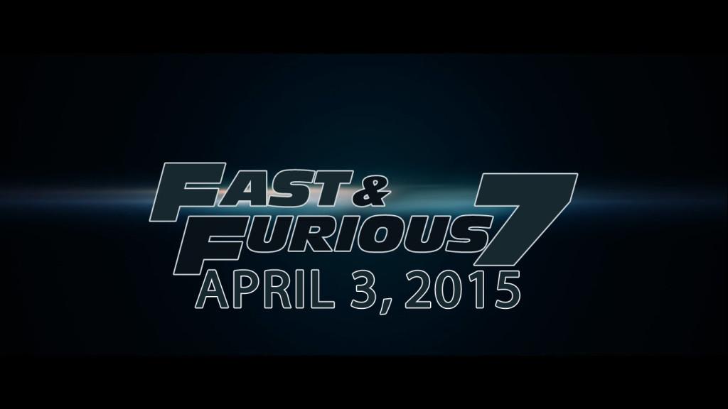 Fast furious 7 release date