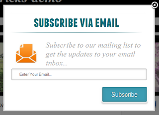 Pop Up Email Subscription Form