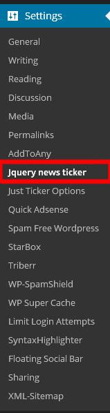 jquery news ticker