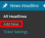 news headline ticker