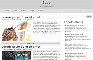 saap blogger template