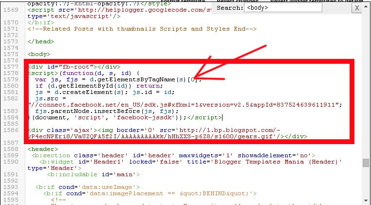 facebook widget code
