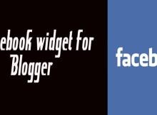 facebook widget for blogger