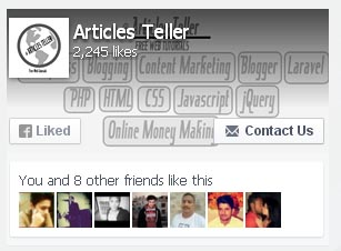 facebook widget works