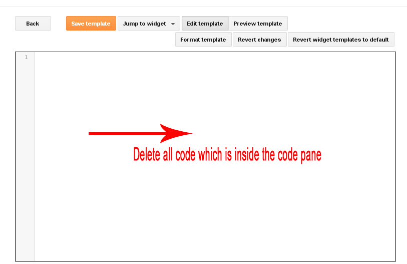 develop blogger template code pane