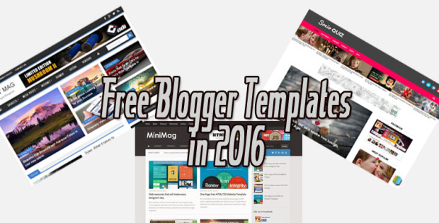Free Blogger Templates in 2016