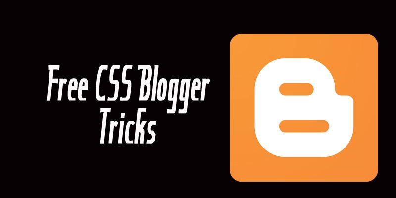 free blogger tricks