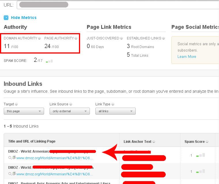 Moz expired domain research