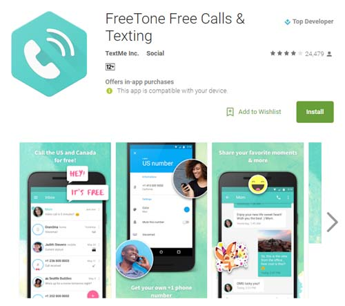 Freetone free calls amp texting texting apps with free phone number