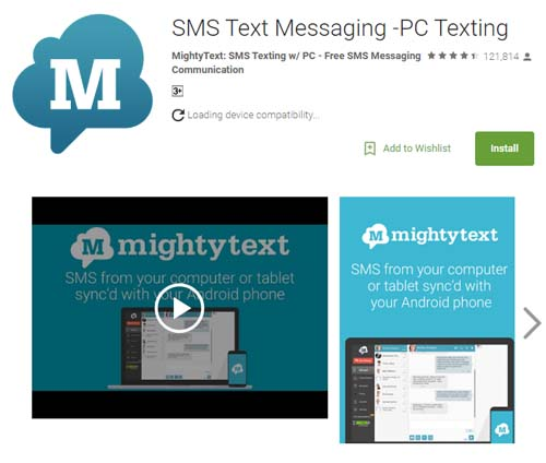Online texting app for android