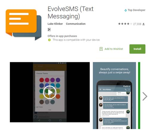 how to change default texting app android