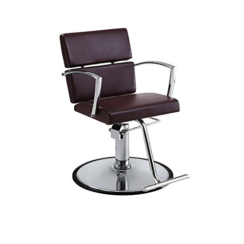 Charlotte Beauty Chair, Brown, Round Base by Standish Salon Goods