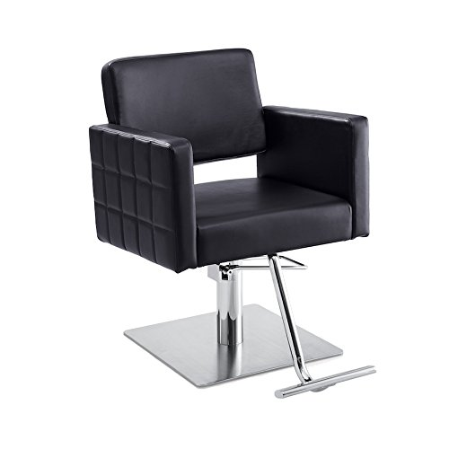 Gwyneth Beauty Chair, Black, Flat Square Base by Standish Salon Goods