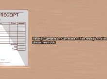 invoice and receipt generator