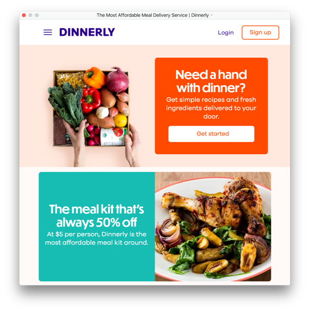 dinnerly homepage